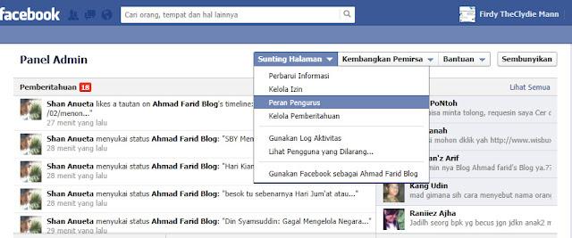 Cara Menambah Admin/pengurus di halaman facebook