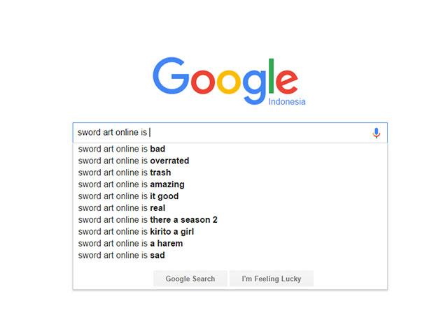 Sword Art Online - score/nilai dari Google