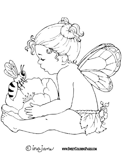 Baby Fairy Coloring Pages