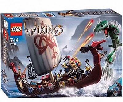 Fearless band 6 mini-figures Lego Vikings pilot dragon head longboat across strange dangerous waters