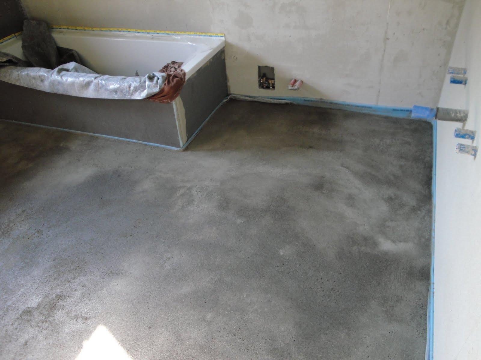 Estrich Bad fam schmaderer umbau obergeschoss 13 tag bad estrich eingebaut