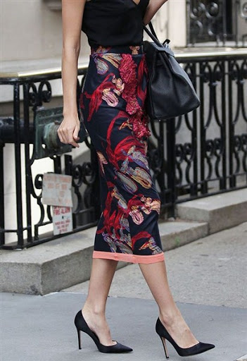 Floral skirt outfit ideas for trends 2015/2016