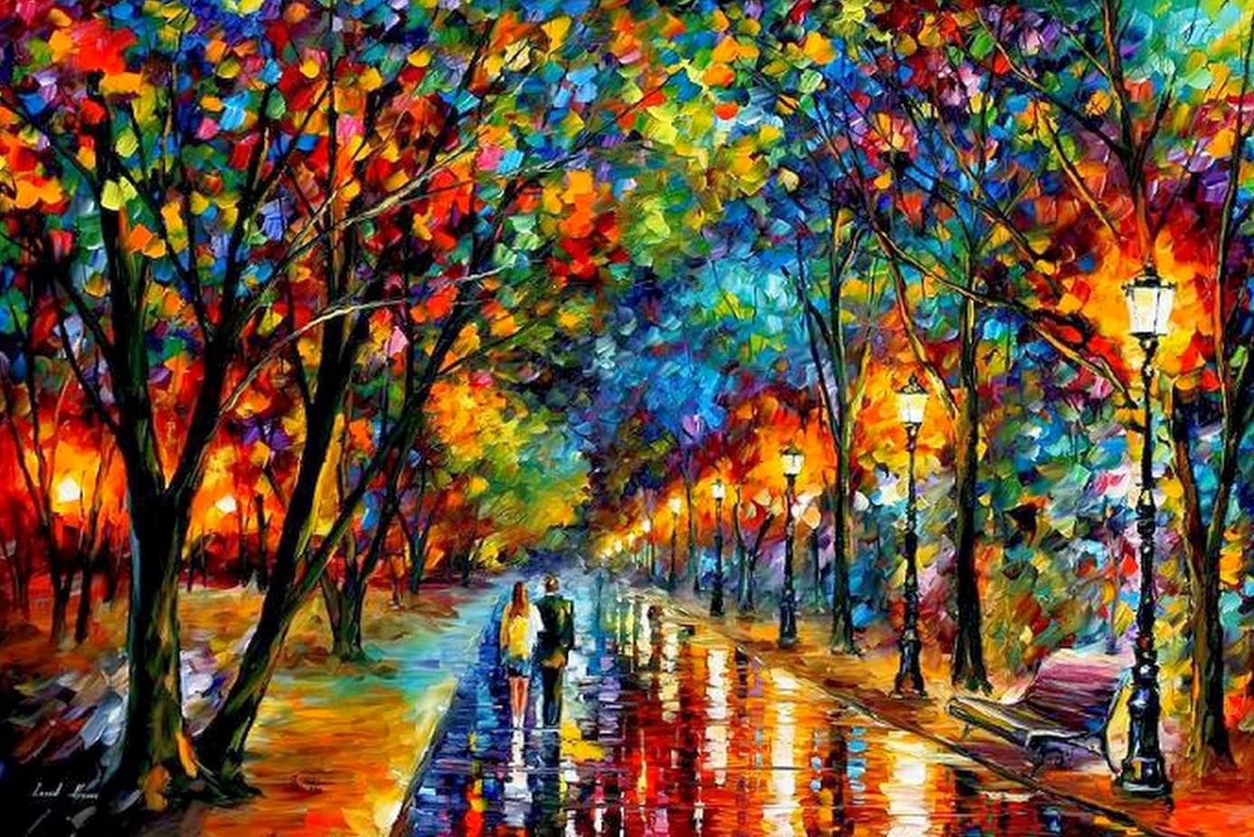 Cuadros modernos pinturas y dibujos paisajes pintados - Cuadros contemporaneos ...