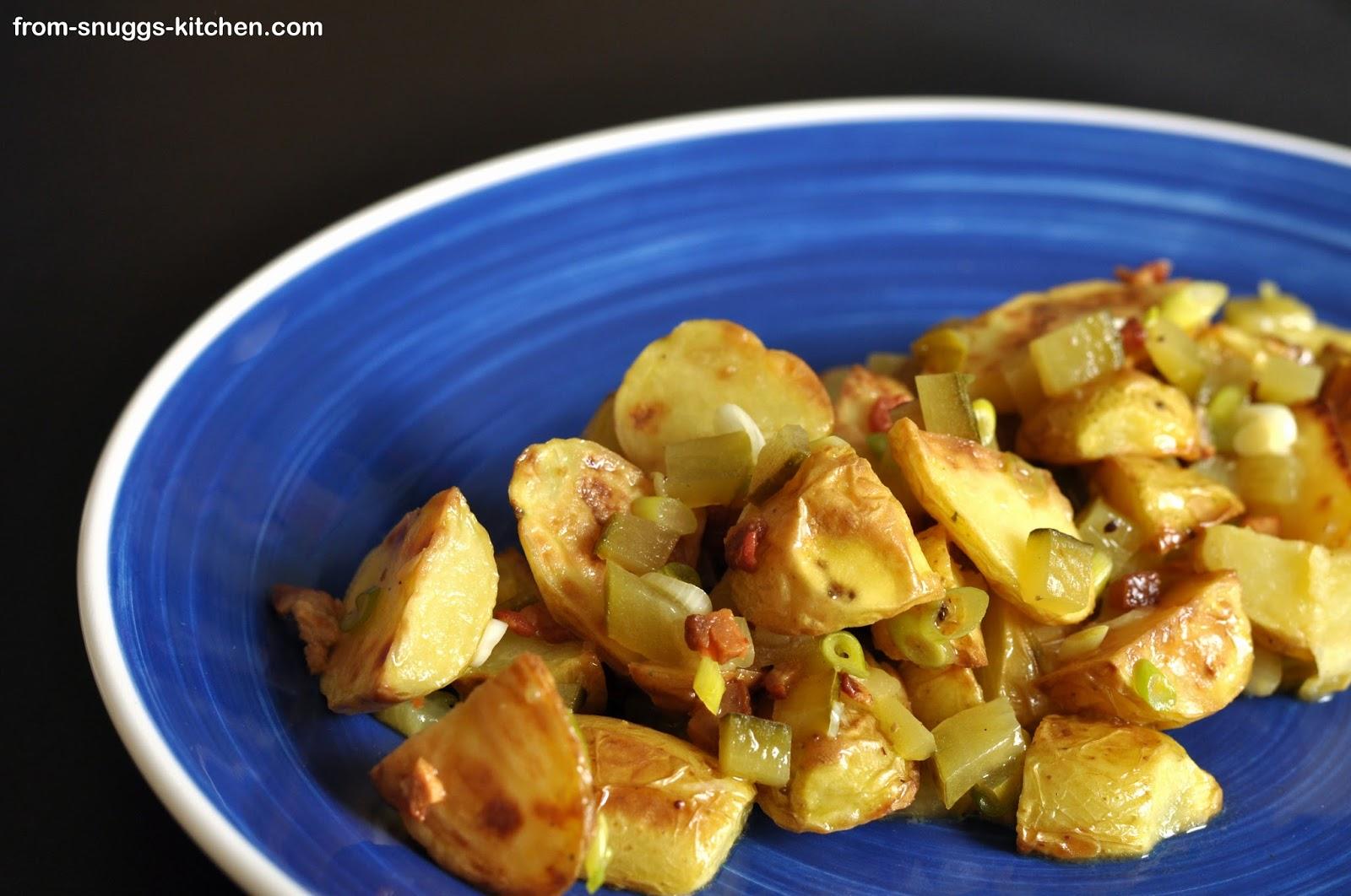 Kartoffelsalat mit Ofenkartoffeln