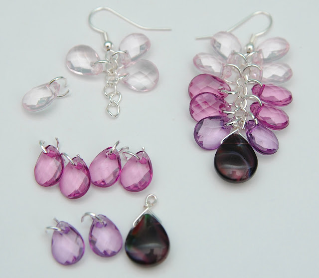 Purple Ombre Earrings