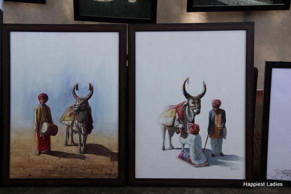 bull oil painting