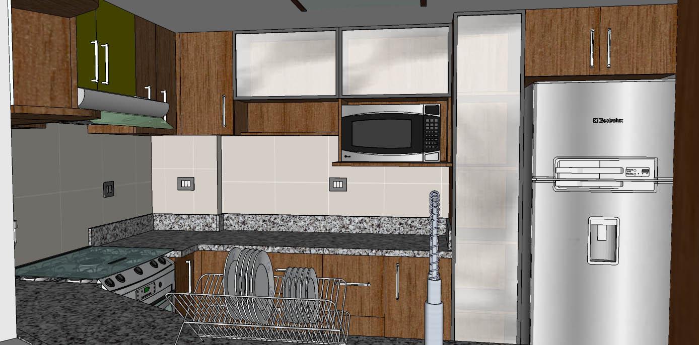 Oniria remodelaci n total de cocina de diez metros cuadrados for Cocina 3 metros pared