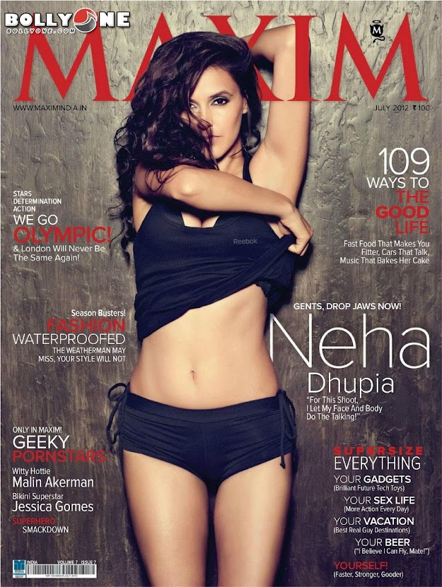 NeHa DHupia Hd Maxim Cover - NeHa DHupia MAXIM MAGAZINE July 2012 HD Pics