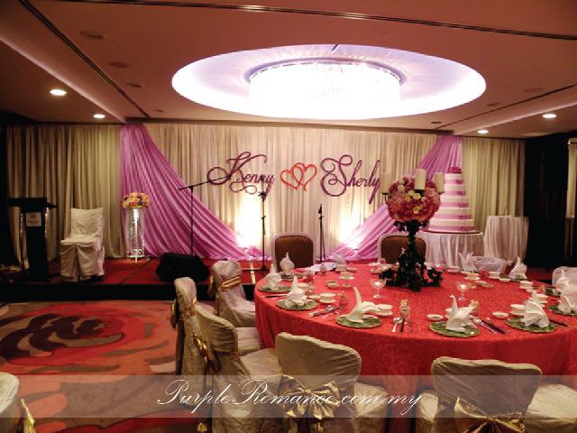 婚礼装饰服务, Stage Backdrop Decoration, purple, kenny & sherly, sheraton imperial hotel kuala lumpur, KL, selangor