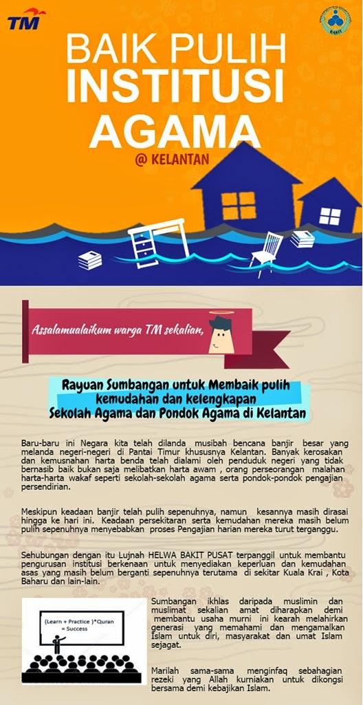 Sumbangan Membaikpulih Kemudahan dan Kelengkapan Sekolah serta Pondok Agama Kelantan