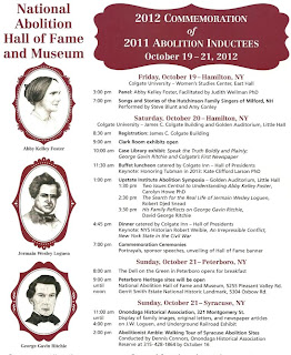 Abolition Hall of Fame Induction Events, Symposia