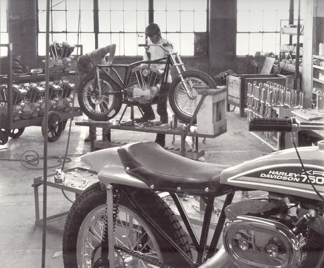 Vintage Everyday In The Harley Davidson Factory