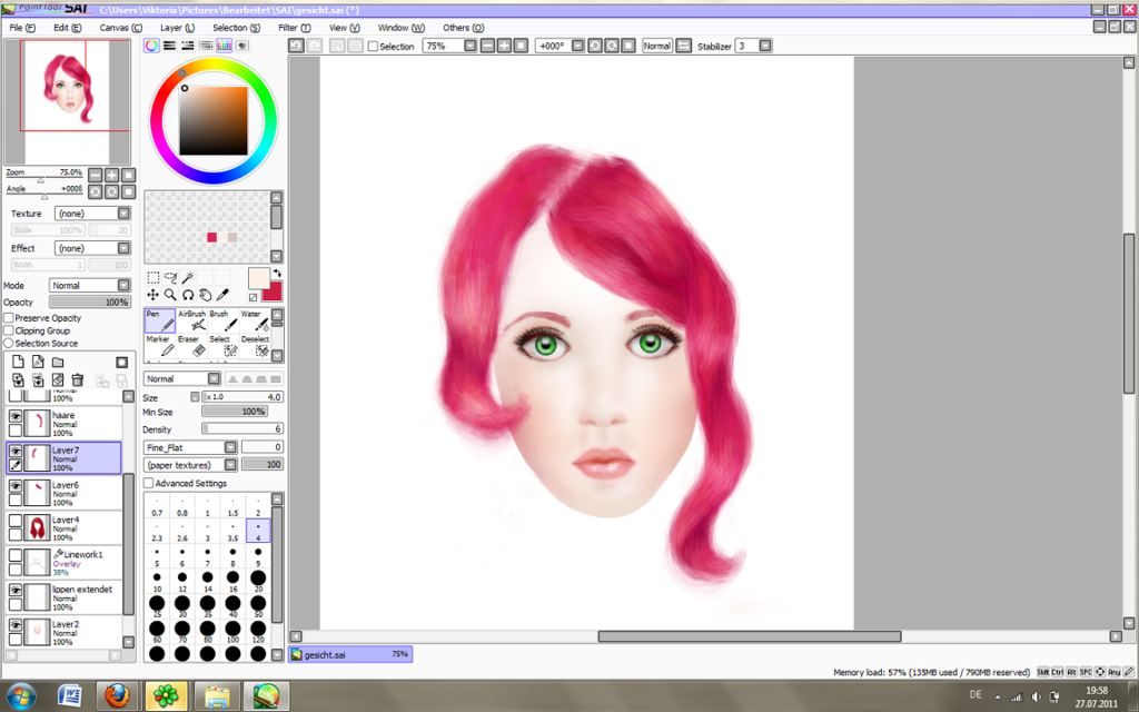 Easy paint tool sai serial number ggettrocks for Paint tool sai free full version