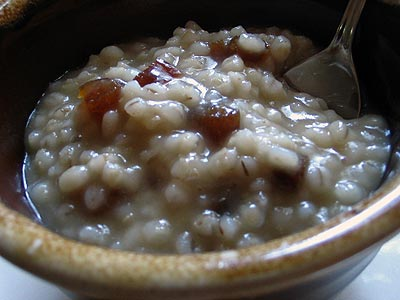 Anooshavoor (Turkish Barley and Apricot Porridge)