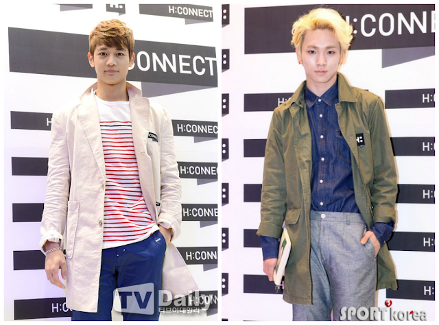 Shinee Key and Minho at H:Connect grand opening 130503-1