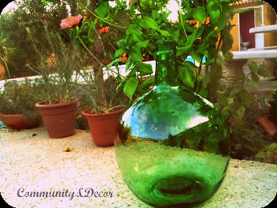 Garrafa antiigua reciclada de florero