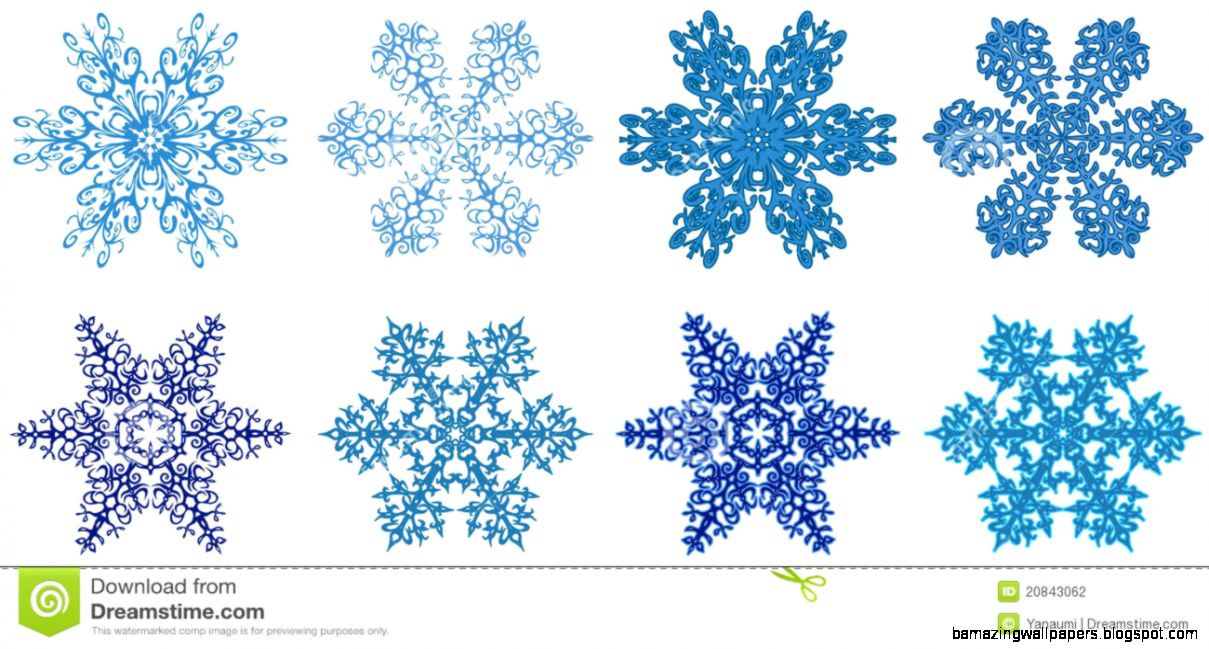 Snowflakes Clipart Stock Photography   Image 20843062