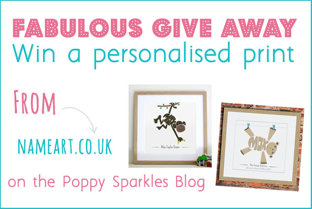 Win a personalised print from Name Art on the Poppy Sparkles Blog