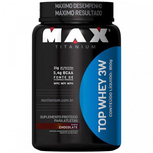 Top Whey 3W 900g Max Titanium (Chocolate)