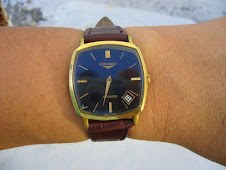 LONGINES AUTOMATIC BLACK DIAL-GOLD INDEX