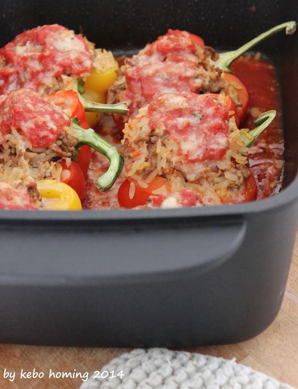 Rezept Paprika, Peperoni, mit Reisfleisch gefüllt, Südtiroler Foodblog kebo homing