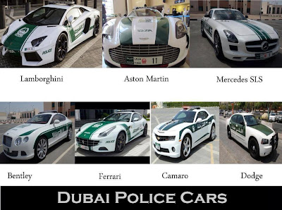 STUNNING FACT ABOUT DUBAI POLICE CARS