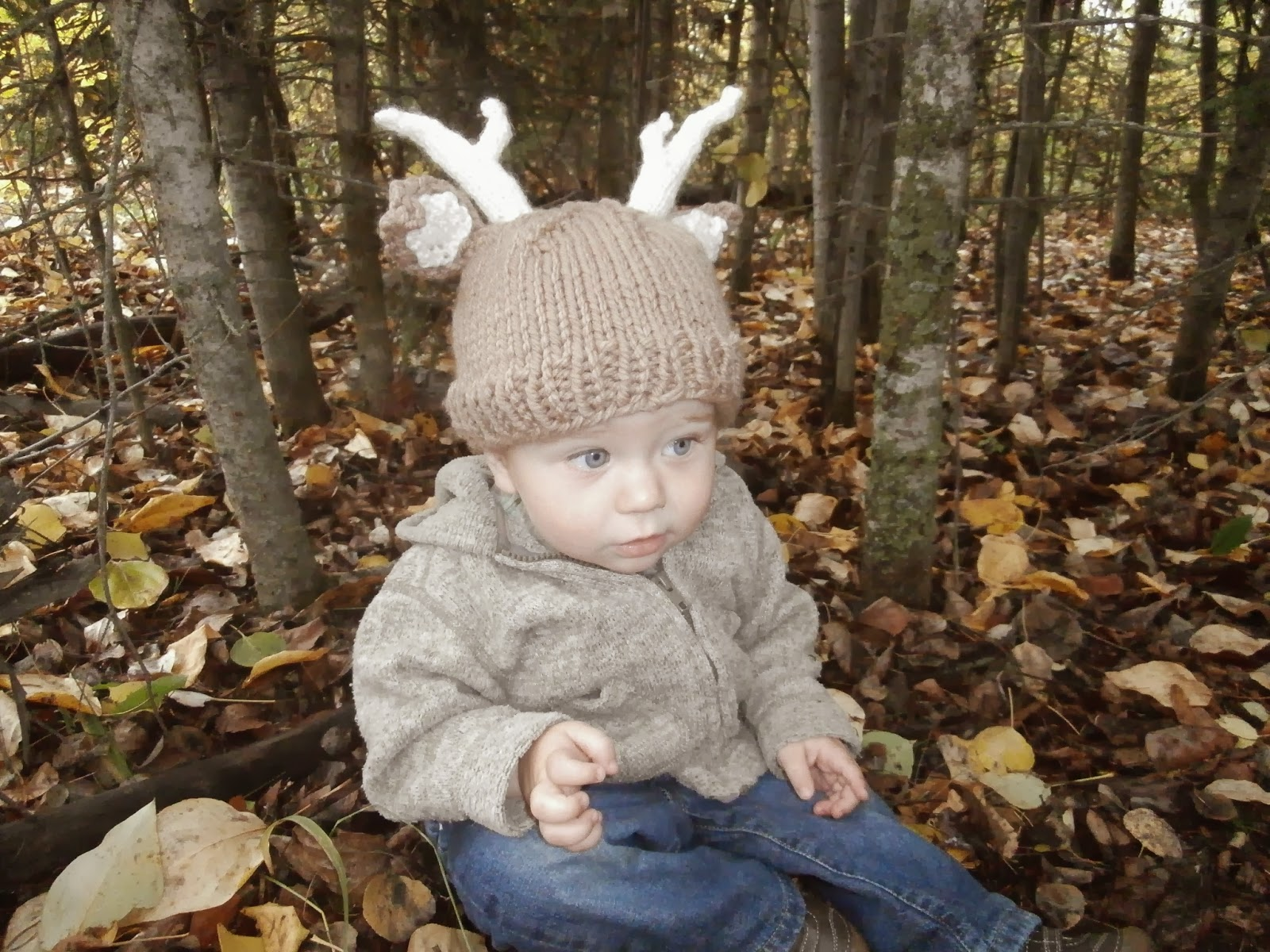 Honey Nutbrown\'s: Knitting! Woodland Stag/Deer Baby Hat