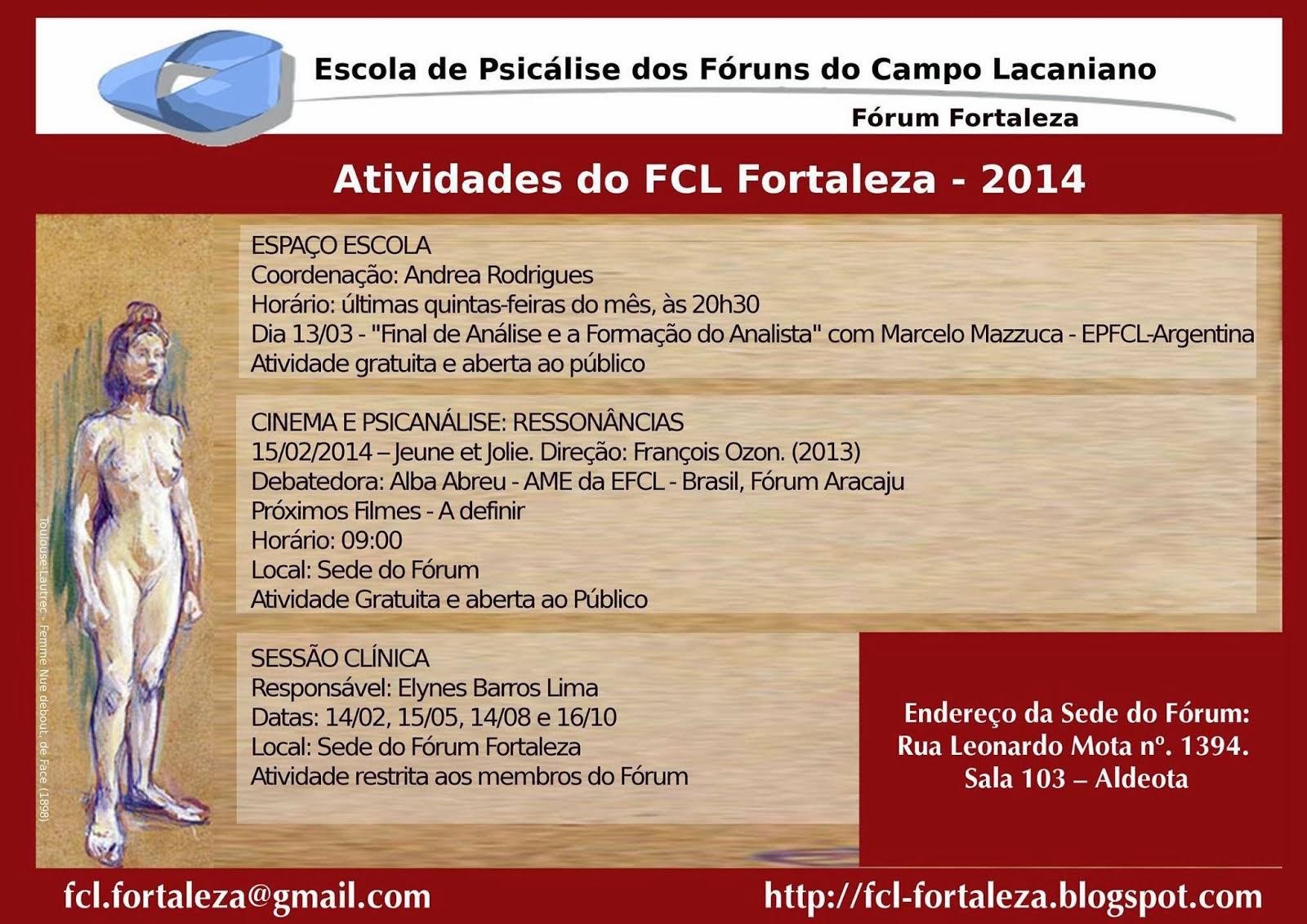 ATIVIDADES DO FCL FORTALEZA