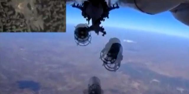 Rusia bikin rekor, sehari gempur 118 basis militan di Suriah