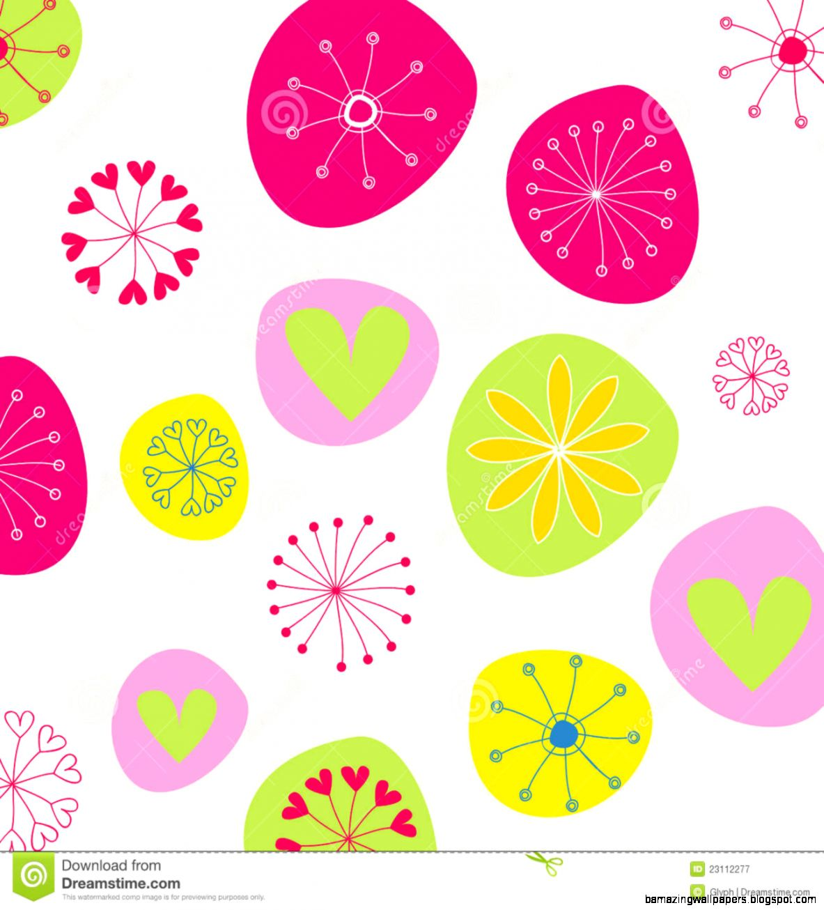 Cute Doodle Spring Background Illustration Royalty Free Stock