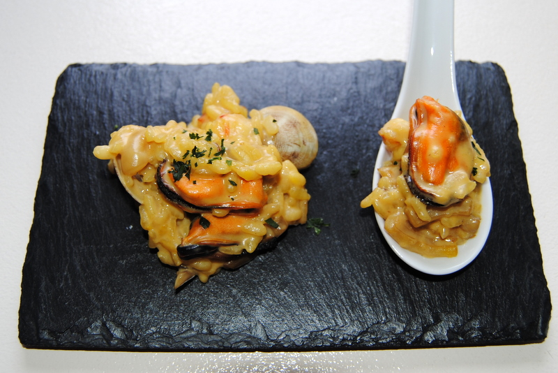 El placer de cocinar risotto de setas gambas sepia for Como cocinar risotto
