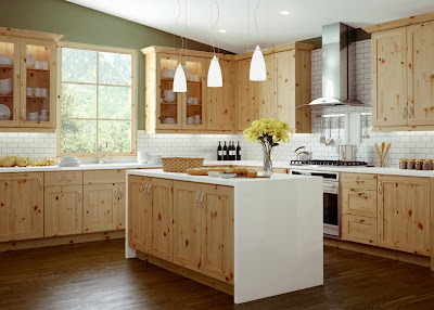 Canyon Creek cabinets in rustic pine