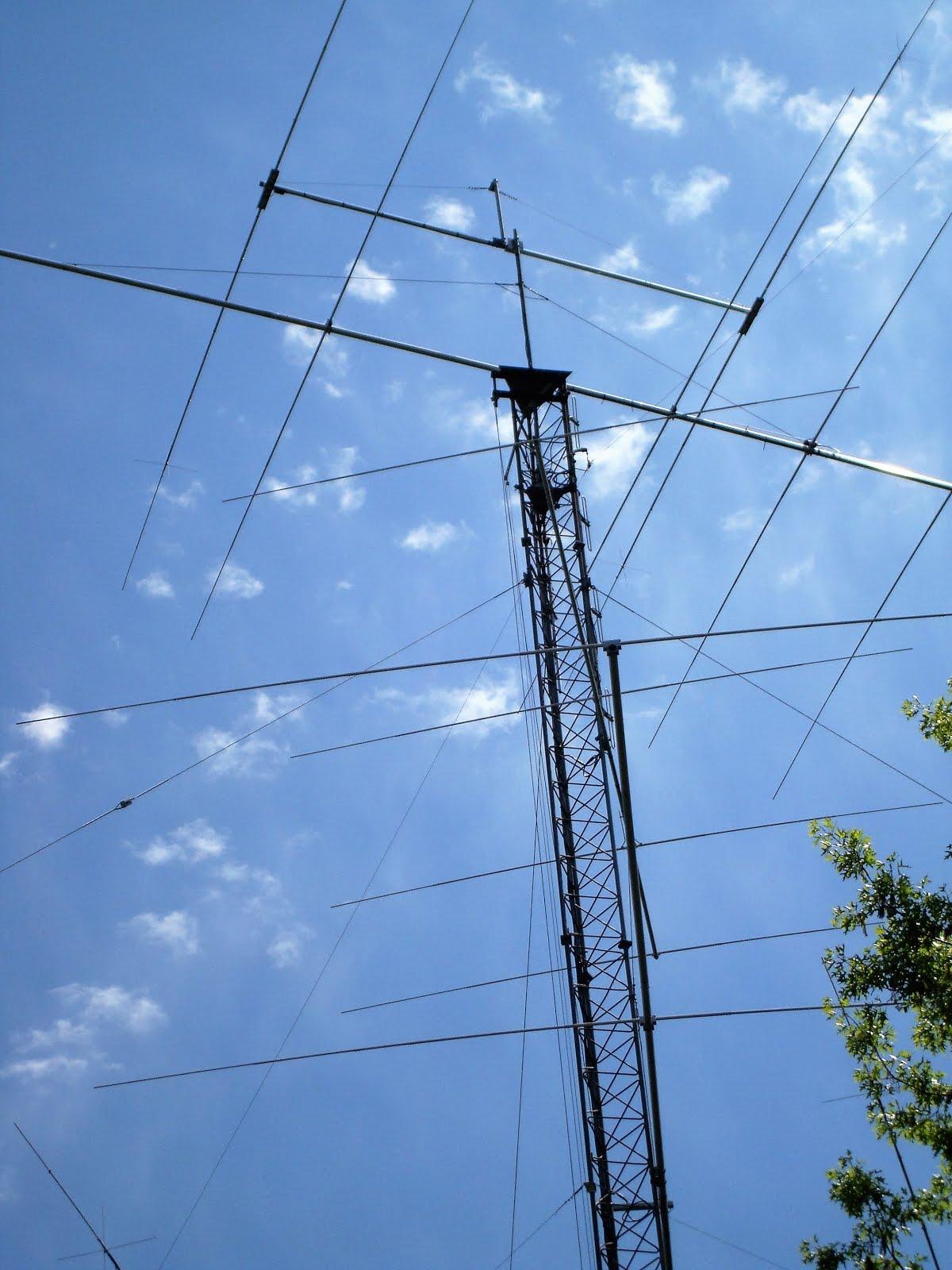 One of three ham towers at W1AW, Newington.
