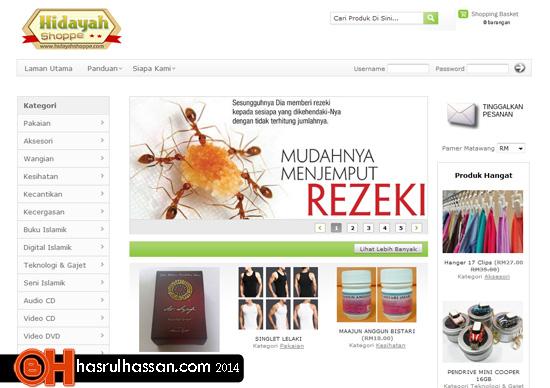 Contoh Kedai Online oleh Muslim Niaga
