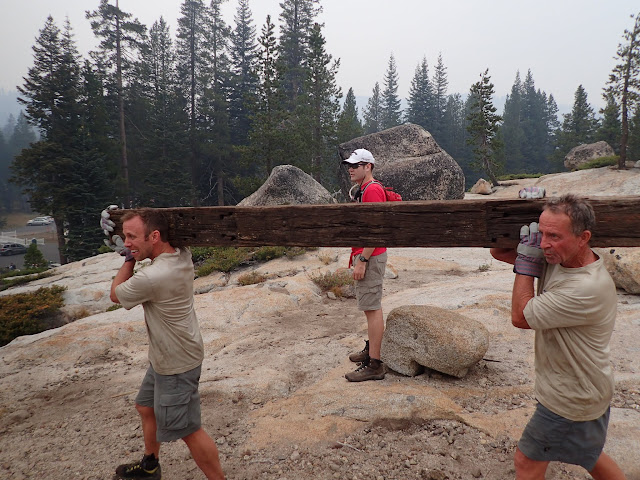 Strength Event: Ryan and Robert with railroad tie...