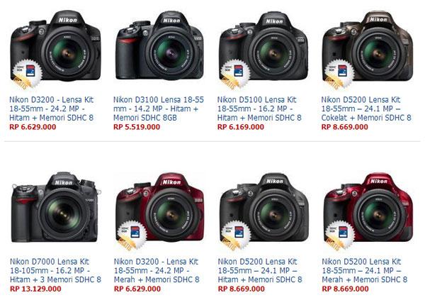 daftar harga kamera nikon terbaru