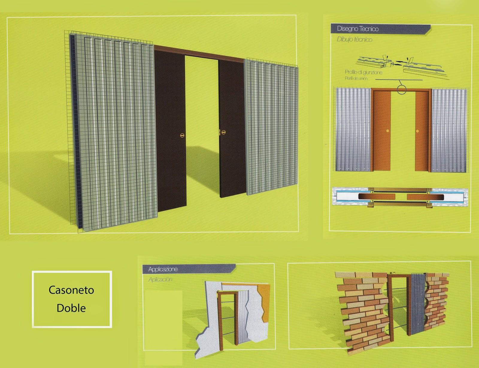 Bridoor s l casoneto puerta corredera hueco doble o sencillo - Casoneto para puerta corredera ...