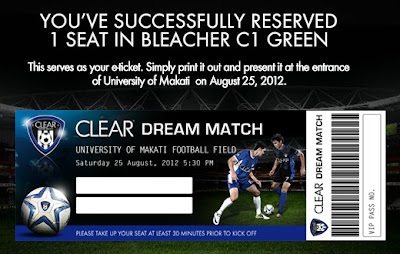CLEAR Dream Match E-ticket