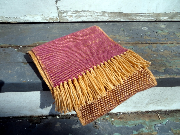 weaving, handwoven scarf
