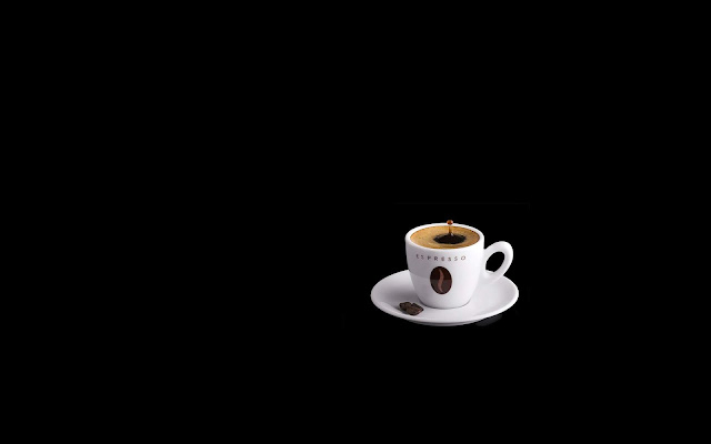 White Coffee Cup on Black Background Black-White Wallpaper hd