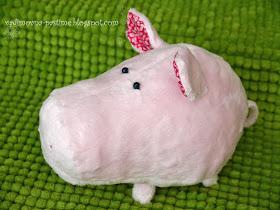 мягкая игрушка пушистая свинка