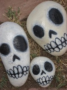 Piedras pintadas, Diseños de Halloween