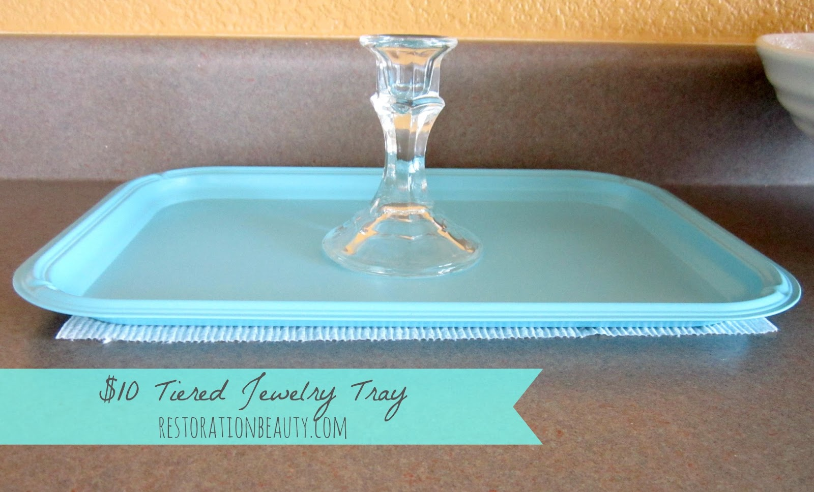 Restoration Beauty 10 Tiered Jewelry Trays Using mostly Supplies