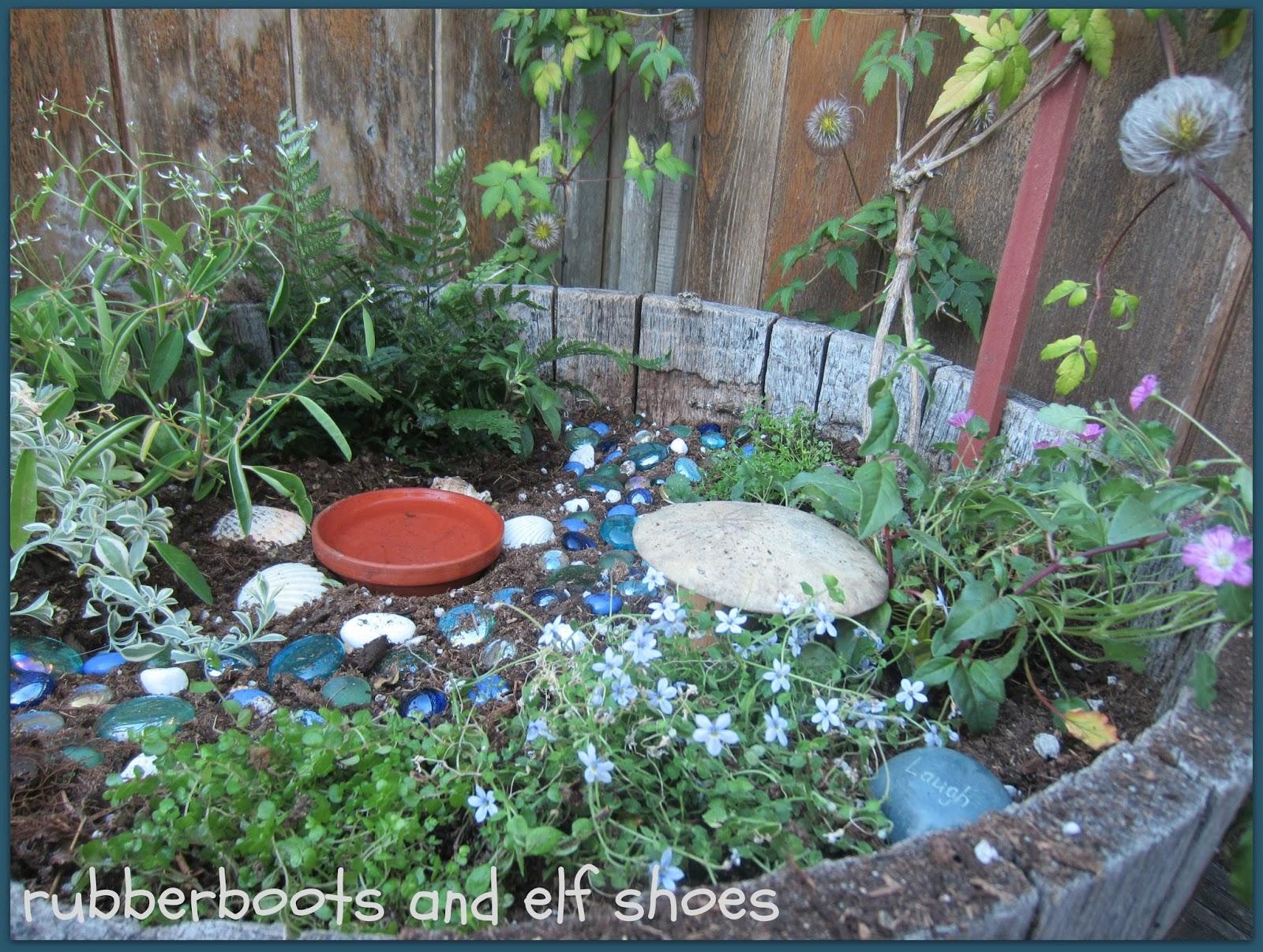 A Fairy Garden For The Garden Fairies Rubber Boots And