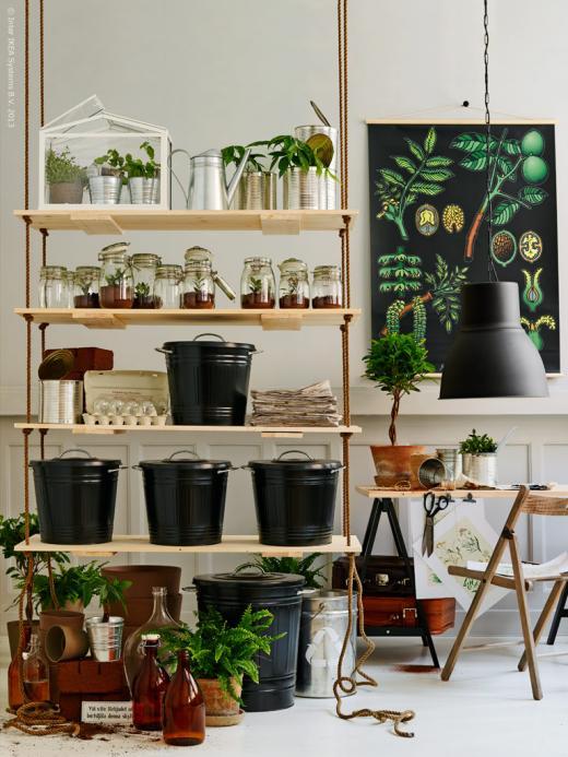 Kreativa kvadrat ab ikea livet hemma sortera och plantera for Ikea garden shelf
