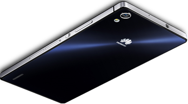 Huawei Ascend P7 back side with 7 layers