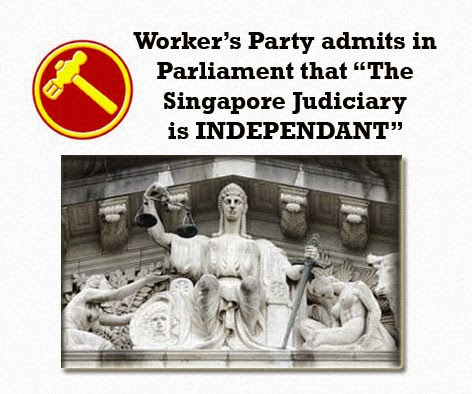 Singapore's independant judiciary workers party