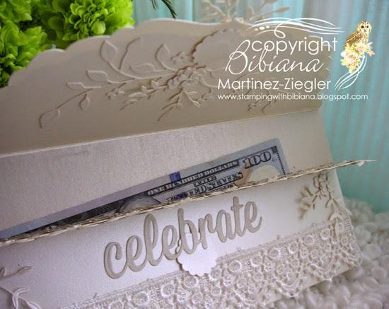 wedding envelope flap opened