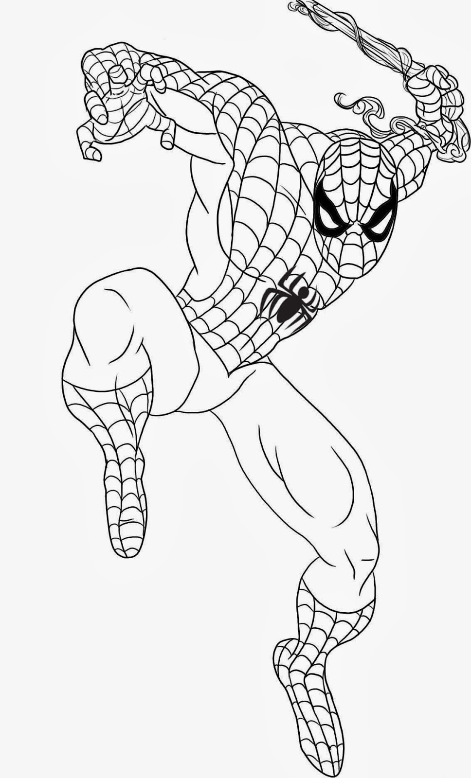 cartoons coloring pages spiderman coloring pages