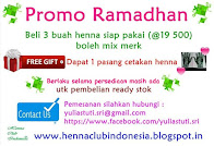 Buy 3 Henna Natural Fresh Get 1 FREE Cetakan Henna